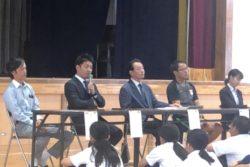 豊川市立代田中学校で「社会人に学ぶ会について」のパネラーをさせていただきました